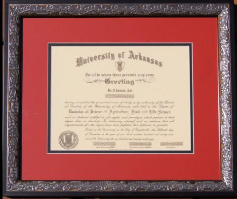 Music Framed Diploma Picture