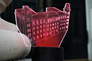 Old Main Hologram Red